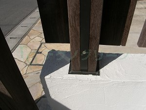 フェンス 支柱 ウッド